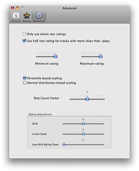 AutoRate preferences screenshot