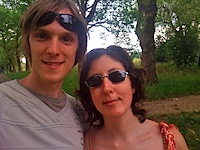 Us at Hampstead Heath in London