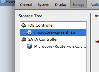 Microcore ISO attached to VM