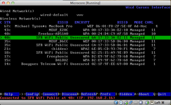 VirtualBox running TinyCoreLinux, operating the RTL8187 wifi adapter
