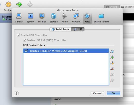 USB Ports screen
